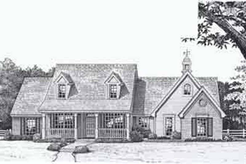 Colonial Style House Plan - 3 Beds 2 Baths 2354 Sq/Ft Plan #310-802 Exterior - Front Elevation