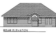 Traditional Style House Plan - 3 Beds 2 Baths 1370 Sq/Ft Plan #70-120 Exterior - Rear Elevation