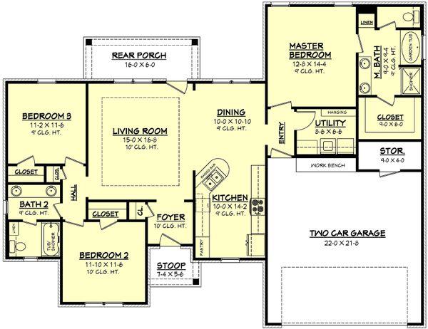 House Plan Design - European Floor Plan - Main Floor Plan #430-62