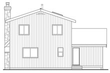 House Blueprint - Cabin Exterior - Rear Elevation Plan #47-881