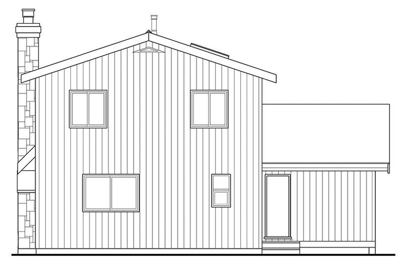Exterior - Rear Elevation Plan #47-881 - Houseplans.com