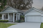 Colonial Style House Plan - 3 Beds 3 Baths 2562 Sq/Ft Plan #1058-148 Exterior - Front Elevation