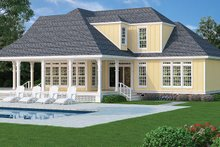 Dream House Plan - Traditional Exterior - Rear Elevation Plan #45-569