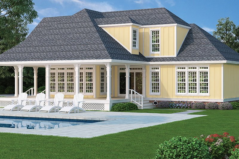 Traditional Exterior - Rear Elevation Plan #45-569 - Houseplans.com