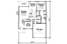 Traditional Floor Plan - Main Floor Plan Plan #20-2396