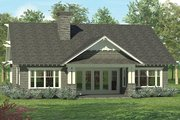 Craftsman Style House Plan - 4 Beds 3 Baths 2519 Sq/Ft Plan #453-614 Exterior - Rear Elevation