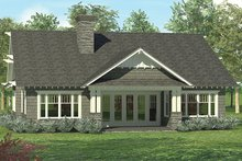 House Plan Design - Craftsman Exterior - Rear Elevation Plan #453-614