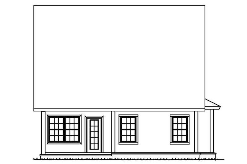 Traditional Exterior - Rear Elevation Plan #513-2161 - Houseplans.com