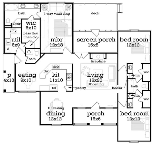 House Plan Design - Floor Plan - Main Floor Plan #45-570