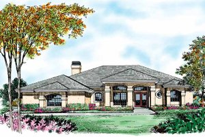 Mediterranean Exterior - Front Elevation Plan #417-469