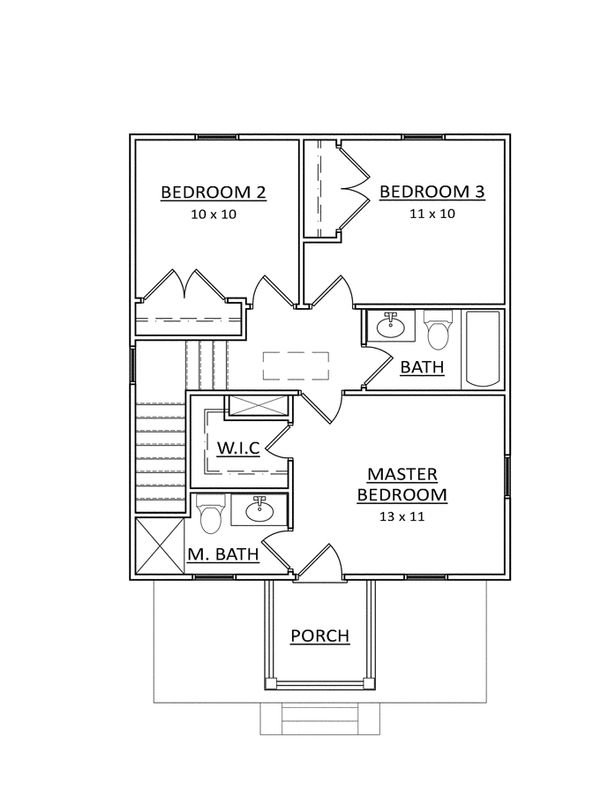 Craftsman Floor Plan - Upper Floor Plan Plan #936-21
