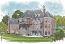 European Exterior - Rear Elevation Plan #453-596