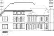 European Style House Plan - 5 Beds 6 Baths 7157 Sq/Ft Plan #119-231 Exterior - Rear Elevation