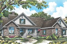 Dream House Plan - Traditional Exterior - Front Elevation Plan #929-965