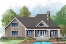 House Plan Design - Ranch Exterior - Rear Elevation Plan #929-1011