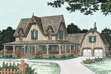 Dream House Plan - Craftsman Exterior - Front Elevation Plan #310-1108