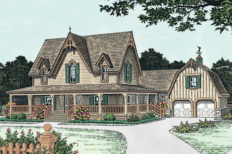Craftsman Exterior - Front Elevation Plan #310-1108