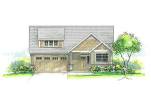 Architectural House Design - Craftsman Exterior - Front Elevation Plan #53-584