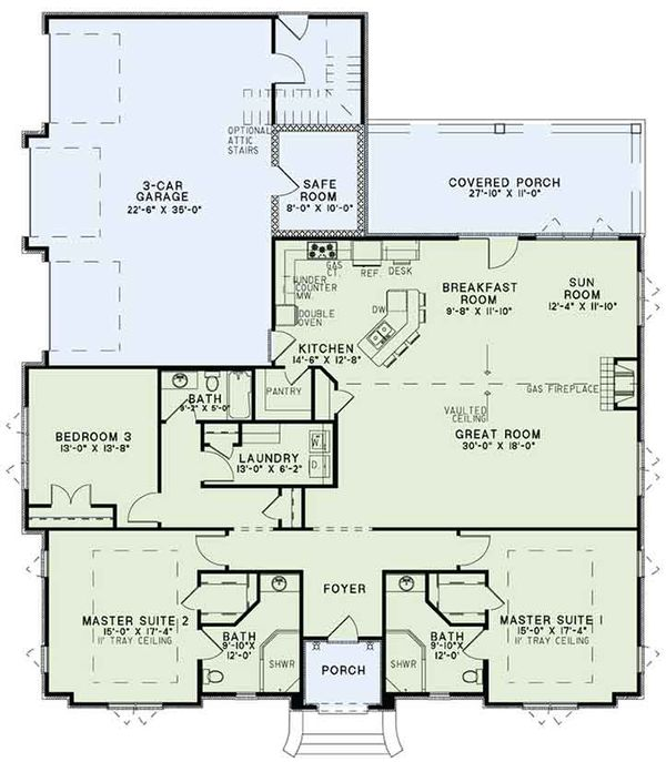 Dream House Plan - European Floor Plan - Main Floor Plan #17-3388