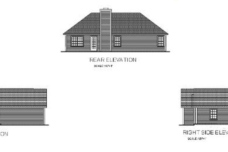 Traditional Exterior - Rear Elevation Plan #56-108 - Houseplans.com