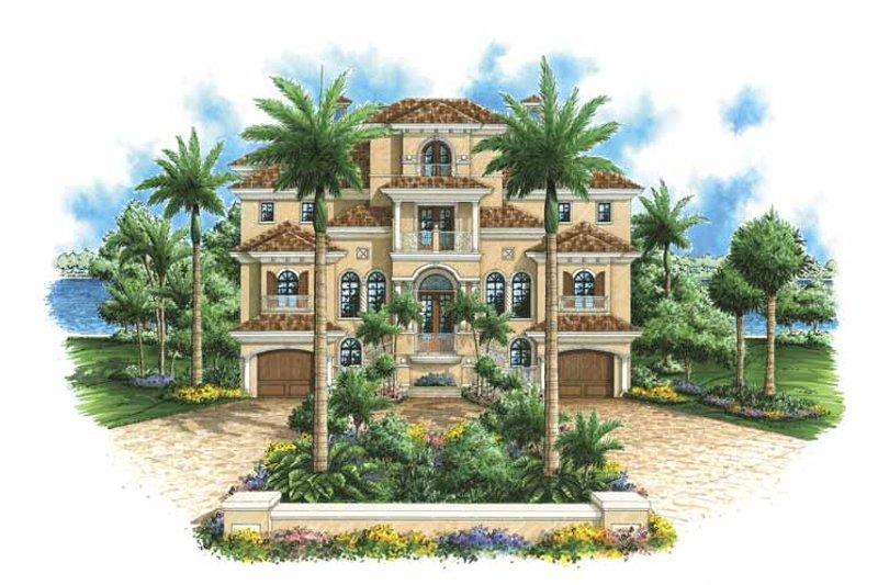 Dream House Plan - Mediterranean Exterior - Front Elevation Plan #1017-98