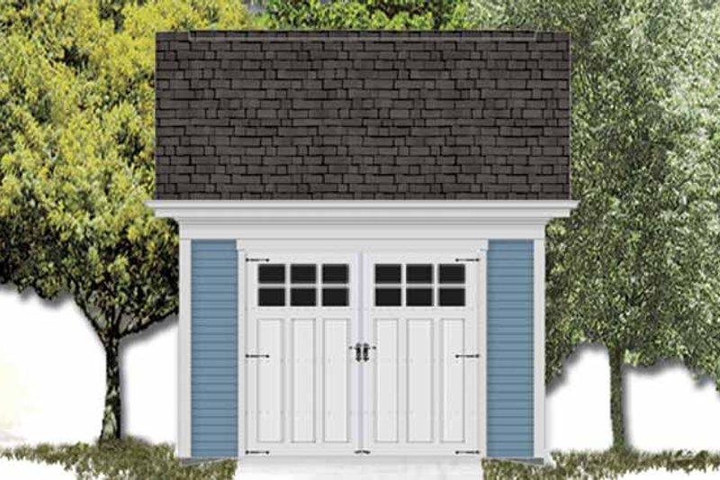 Exterior - Front Elevation Plan #306-123 - Houseplans.com