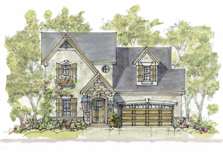 Architectural House Design - Country Exterior - Front Elevation Plan #20-2235