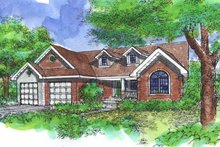 Architectural House Design - Traditional Exterior - Front Elevation Plan #320-828