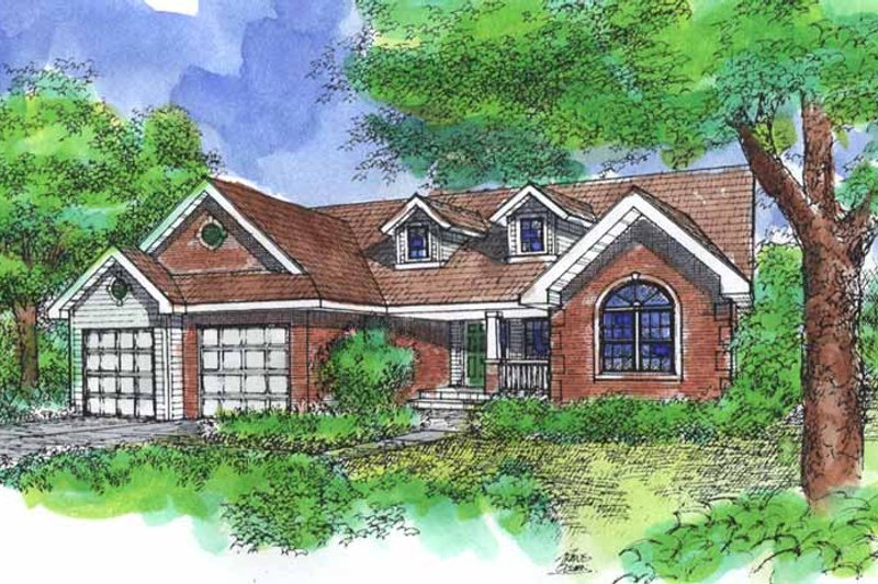 Traditional Exterior - Front Elevation Plan #320-828 - Houseplans.com