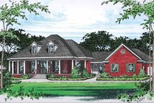 Dream House Plan - Colonial Exterior - Front Elevation Plan #15-390