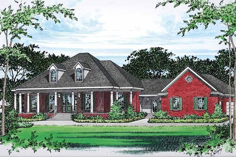Colonial Exterior - Front Elevation Plan #15-390