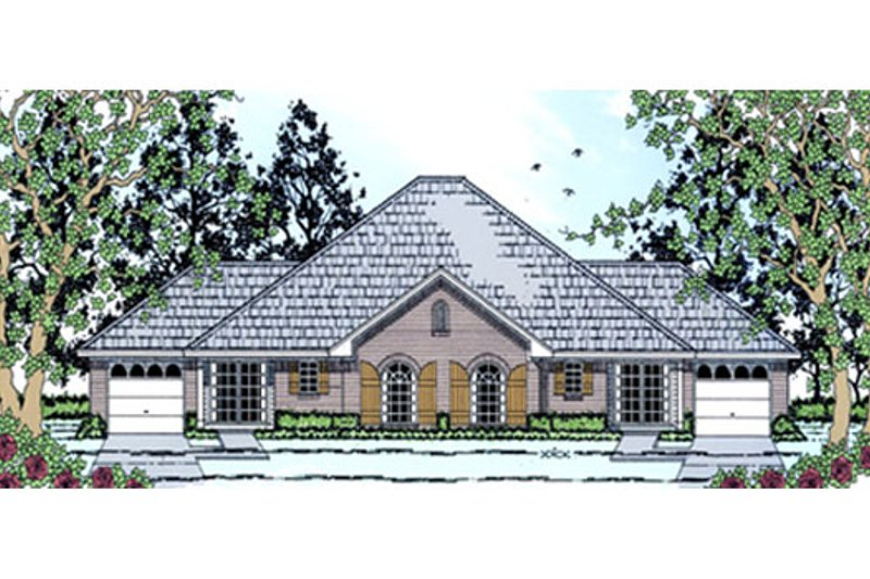 Traditional Exterior - Front Elevation Plan #42-378 - Houseplans.com