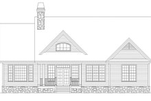 Craftsman Exterior - Rear Elevation Plan #929-500