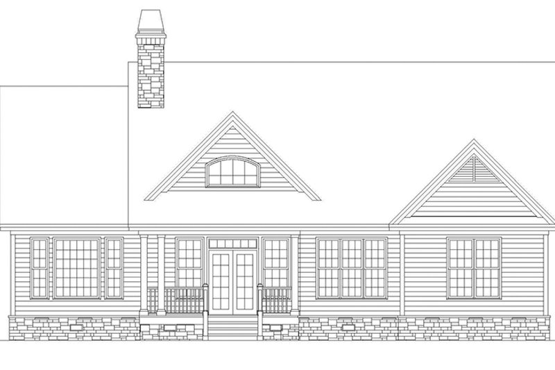 Craftsman Exterior - Rear Elevation Plan #929-500 - Houseplans.com