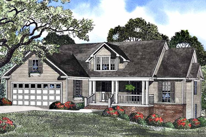 Country Exterior - Front Elevation Plan #17-2957 - Houseplans.com