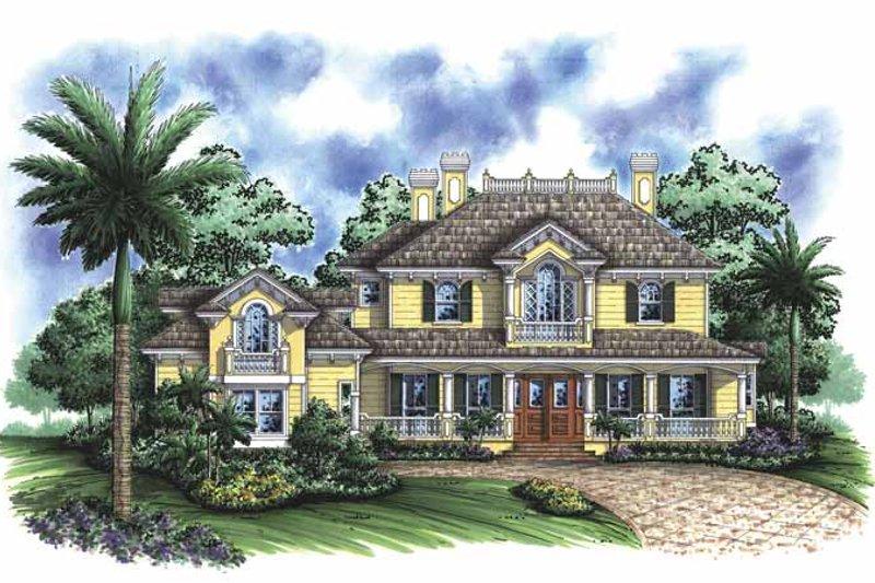 Adobe / Southwestern Exterior - Front Elevation Plan #1017-96 - Houseplans.com