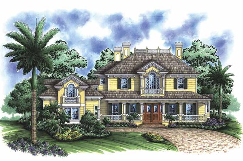 House Plan Design - Adobe / Southwestern Exterior - Front Elevation Plan #1017-96