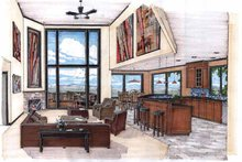 Contemporary Interior - Family Room Plan #509-84