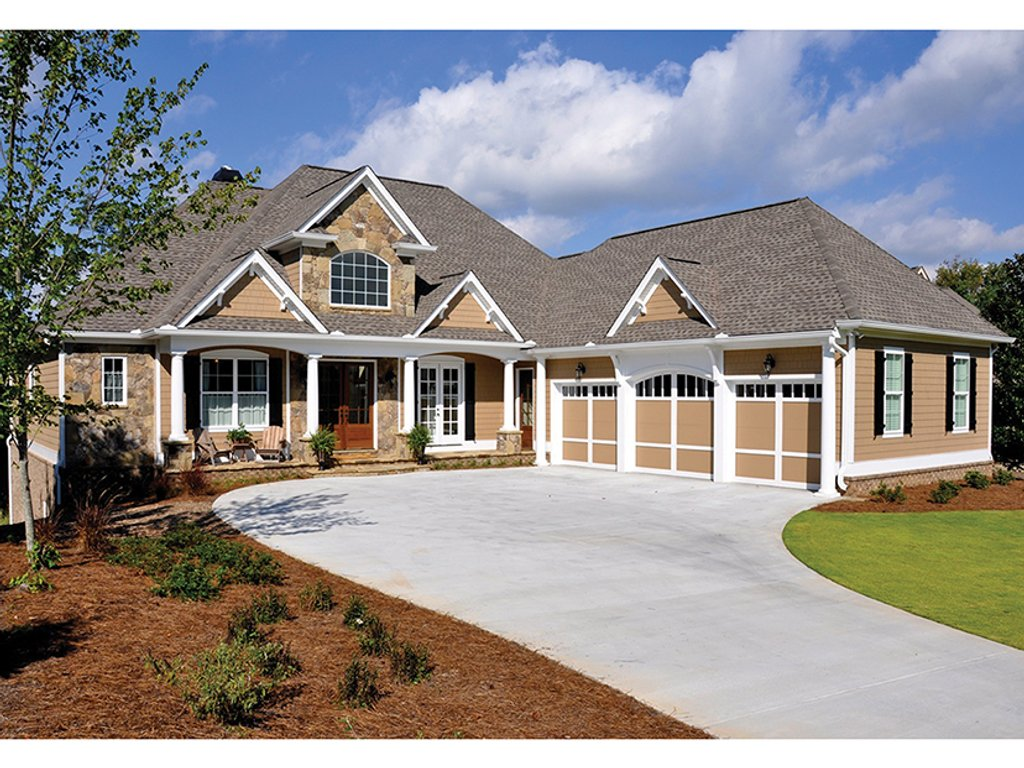 Craftsman style house plan 4 beds 3 5 baths 3807 sq ft for Craftsman style bed plans