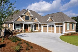 Dream House Plan - Craftsman Exterior - Front Elevation Plan #437-69
