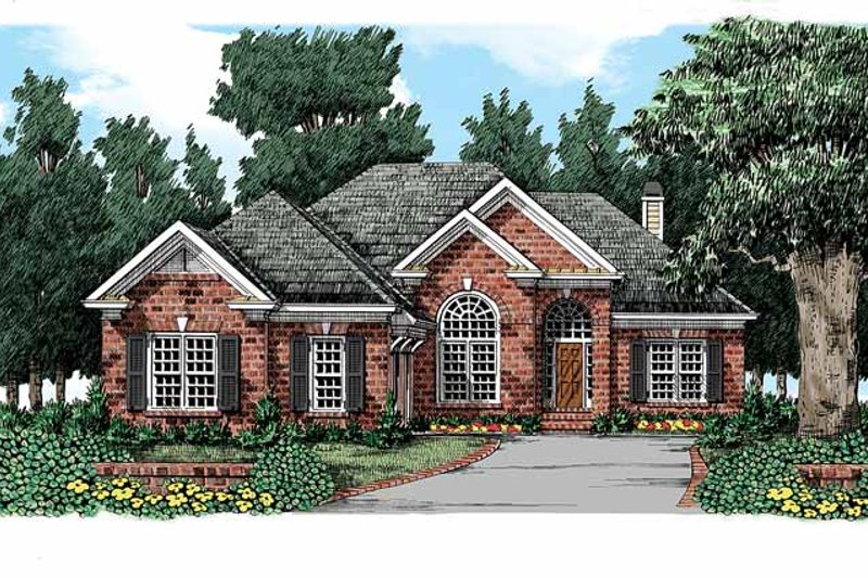 Traditional Exterior - Front Elevation Plan #927-323 - Houseplans.com