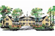 Colonial Style House Plan - 5 Beds 3.5 Baths 3450 Sq/Ft Plan #72-184