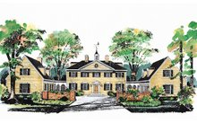 Dream House Plan - Colonial Exterior - Front Elevation Plan #72-184
