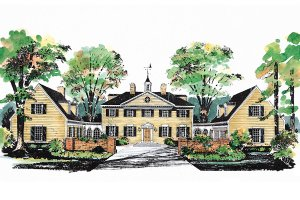 Colonial Exterior - Front Elevation Plan #72-184