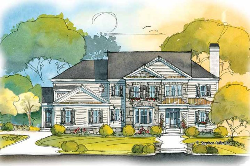 Colonial Exterior - Front Elevation Plan #429-411 - Houseplans.com
