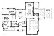 Craftsman Style House Plan - 3 Beds 2.5 Baths 3641 Sq/Ft Plan #928-266 Floor Plan - Main Floor