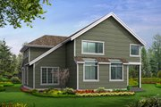 Colonial Style House Plan - 3 Beds 2.5 Baths 2805 Sq/Ft Plan #132-125 Exterior - Rear Elevation