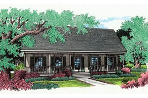 Southern Exterior - Front Elevation Plan #45-234