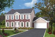 Colonial Style House Plan - 4 Beds 2.5 Baths 2328 Sq/Ft Plan #57-213 Exterior - Front Elevation