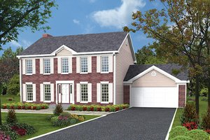 Colonial Exterior - Front Elevation Plan #57-213